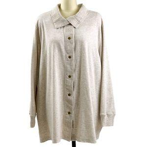 Avenue Cardigan Sweater Front Snap Cream 30/32